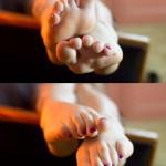 Belle fille avec des pieds sexy 41