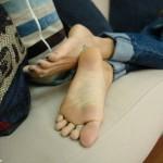 De longues jambes et pieds sexy 38