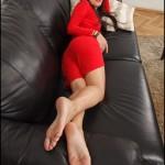 Fétichisme des pieds sexy avec du footjob en photos 38