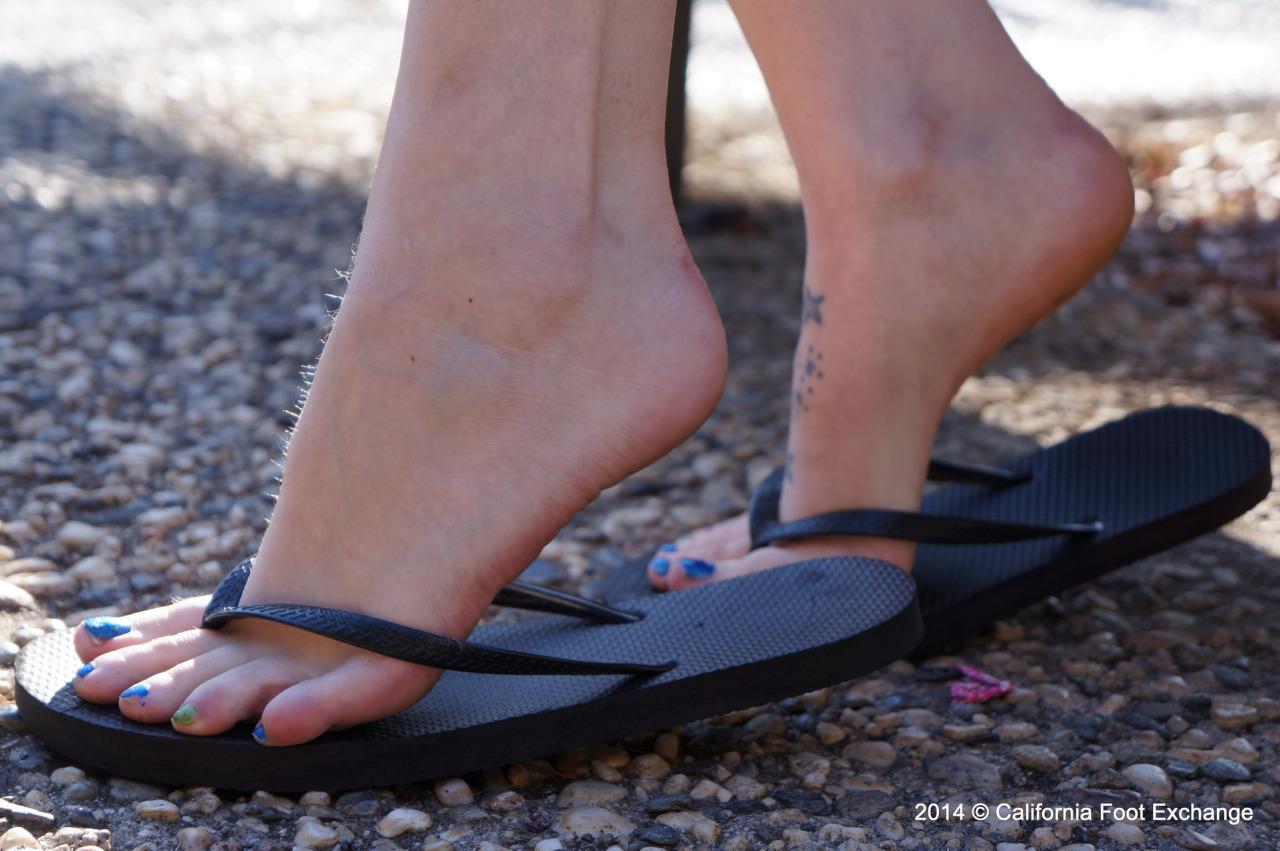 pieds sexy du web de femme en collants 43