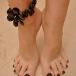 pieds sexy du web de femme en collants 55
